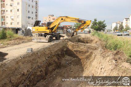 اجرای بزرگترين طرح ساماندهی انهار درون شهری آمل توسط سازمان عمران