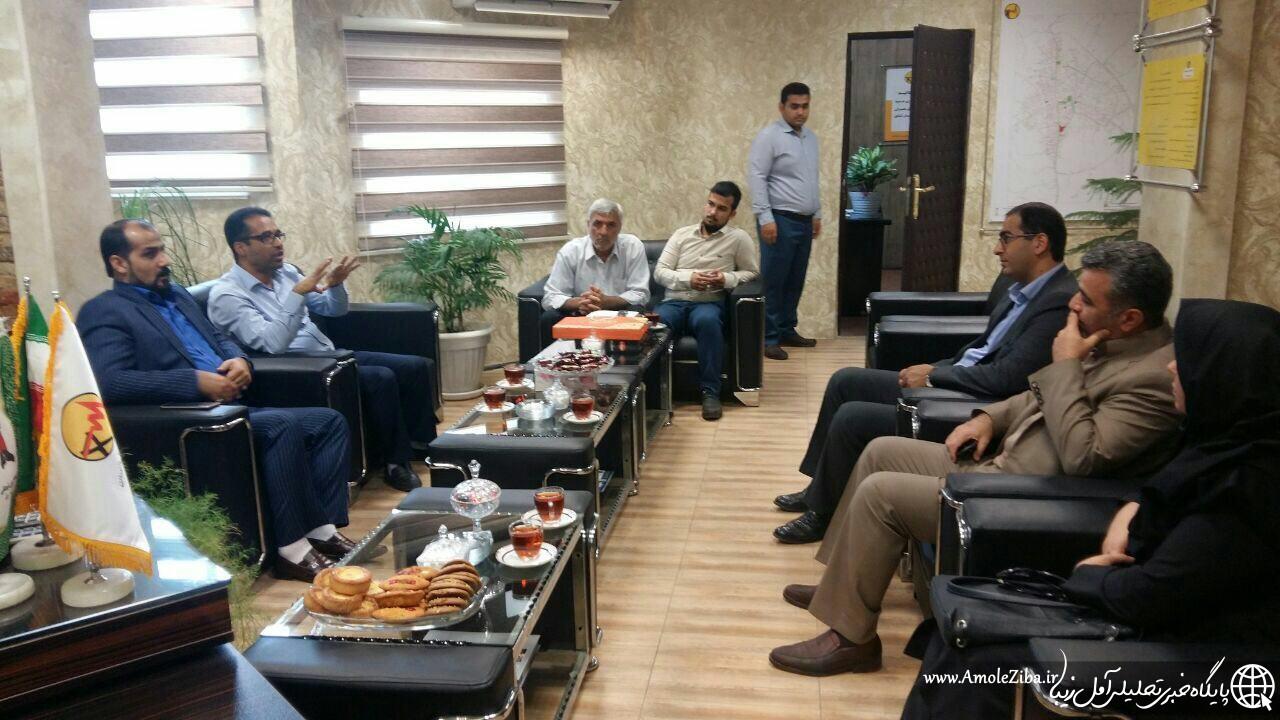ديدار مديران مياني شهرداري آمل با مديران ادارات برق ومخابرات شهرستان