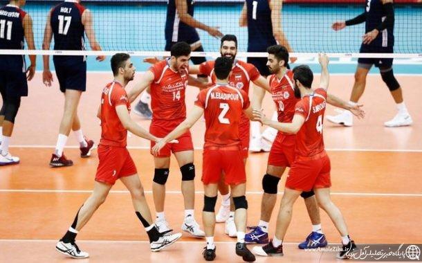 والیبال ایران، آمریکا را نقره داغ کرد