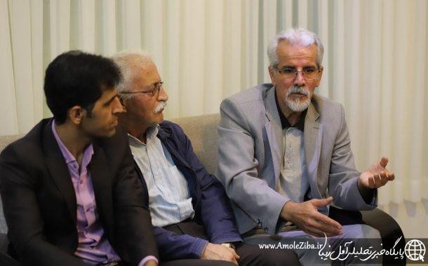 گزارش تصویری از حضور رئیس و هیئت مدیره دیابت آمل در دفتر آمل زیبا