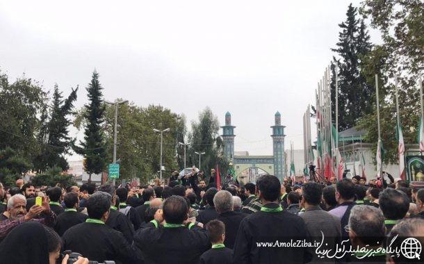 گزارش تصویری آمل زیبا از دسته روی طایفه ی امیری در روز اربعین