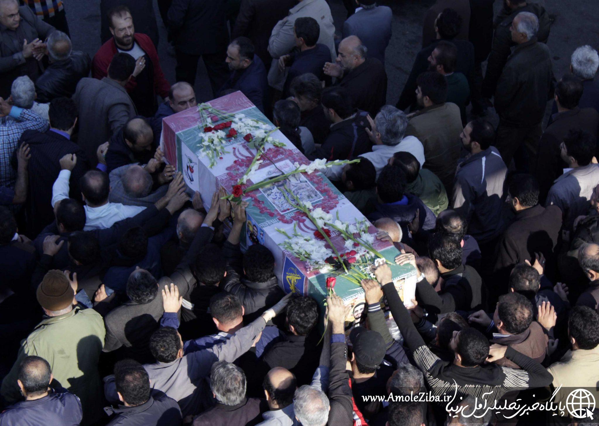 گزارش تصویری مراسم تشییع پیکر هشتمین شهید مدافع حرم آمل