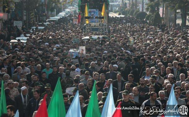 گزارش تصويري تشييع پيكر شهيد مدافع حرم مهدي قره محمدي