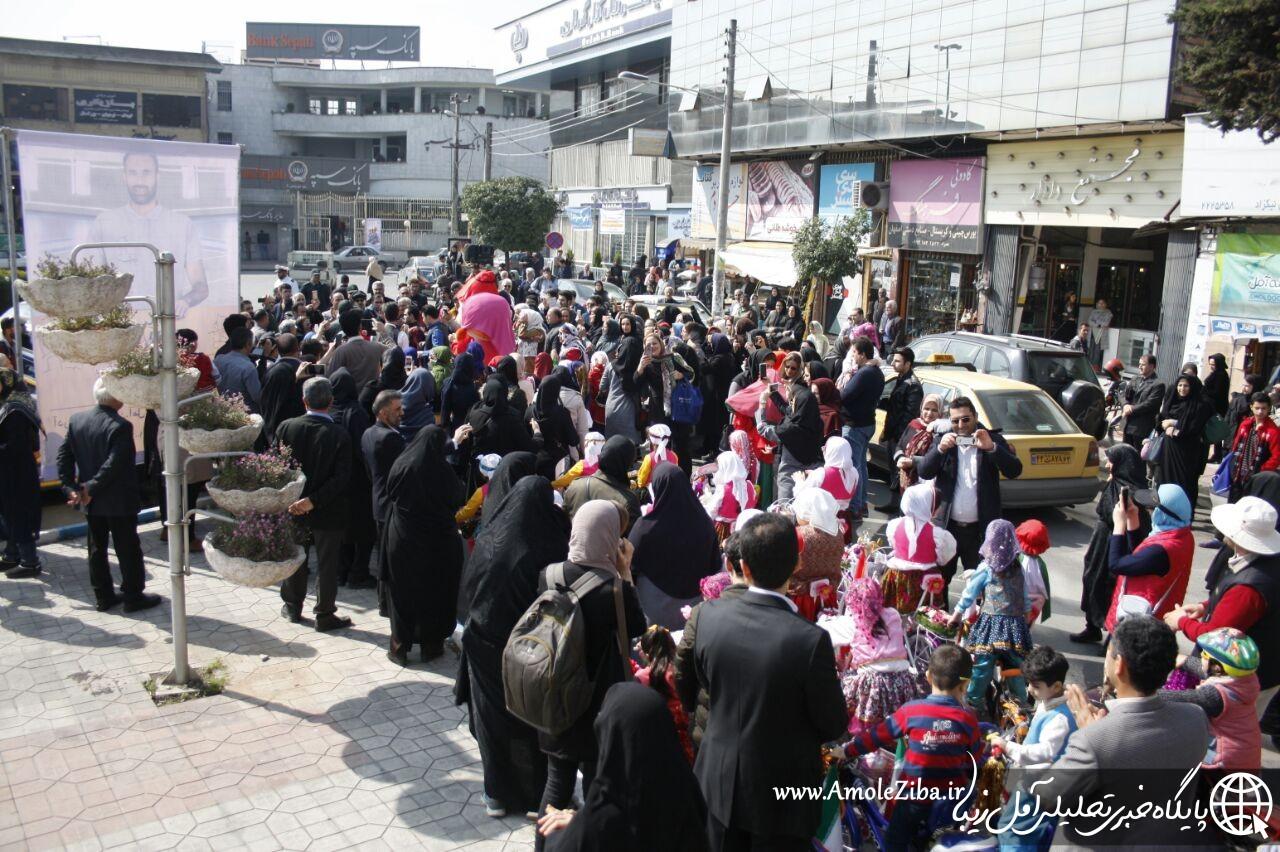 گزارش تصویری از کارناوال بزرگ شادمانه و نوروزخوانی دبستان دخترانه نگرش و مهد غزال